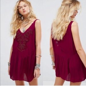 NWT Free People Delphine Embellished Slip Dress